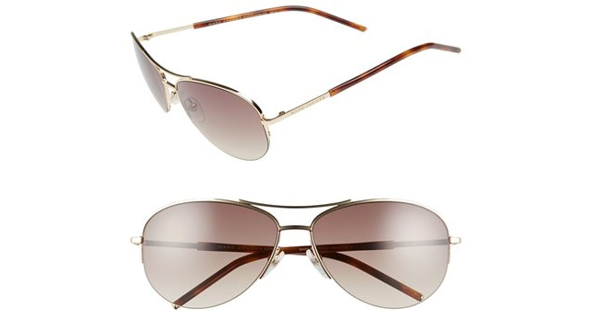 255c2b1294 Marc jacobs 59mm Semi Rimless Sunglasses in Brown for Men