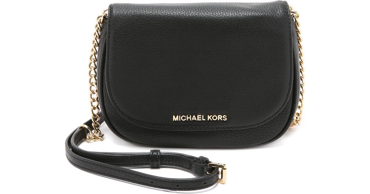 Lyst Michael Kors Bedford Small Cross Body Bag Black In