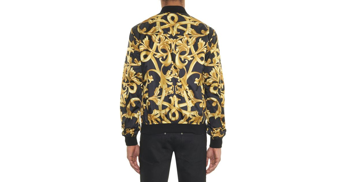 2e81837ab Versace Black Baroque Print Shell Jacket for men
