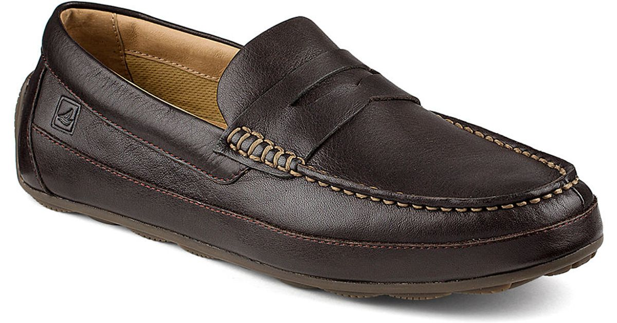 Sperry top-sider Hampden Leather Penny Loafers in Brown ...