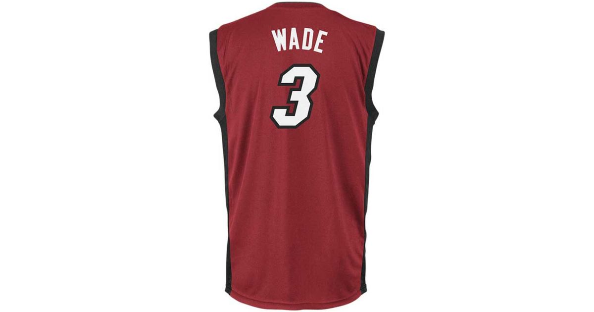 outlet store 387ee 4a811 Adidas Originals - Red Men's Dwyane Wade Miami Heat Replica Jersey for Men  - Lyst