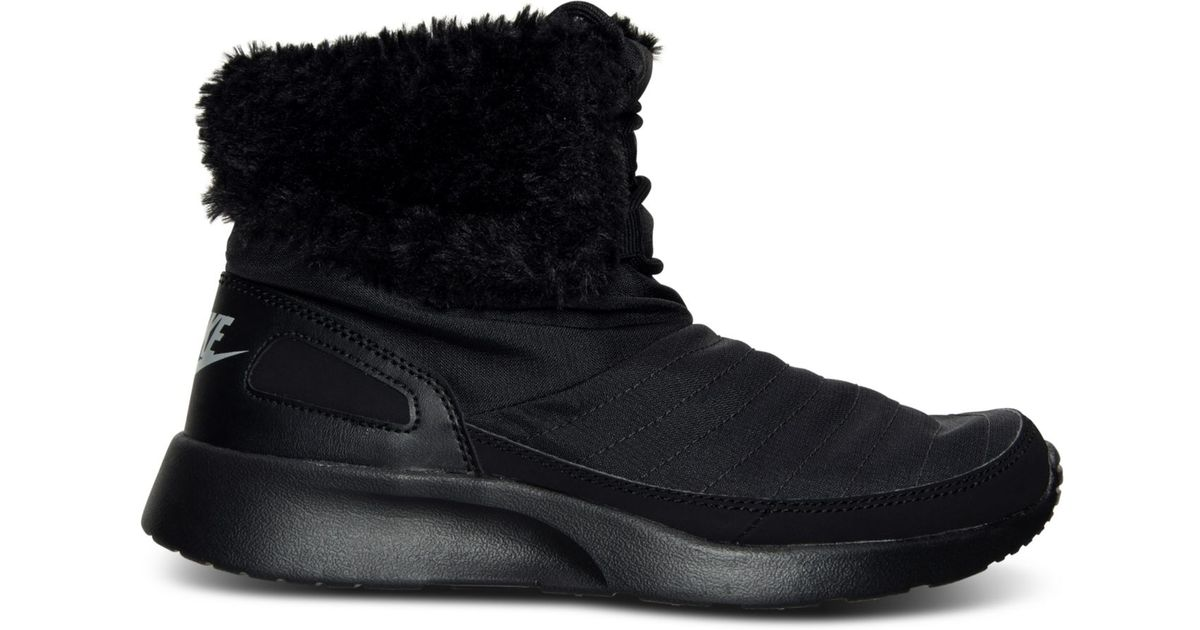 7859bf4eaf14 Lyst - Nike Women s Kaishi Winter High Sneakerboots From Finish Line in  Black