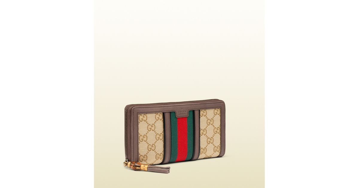 746d14d6458c28 Gucci Rania Original Gg Canvas Zip Around Wallet in Red for Men - Lyst