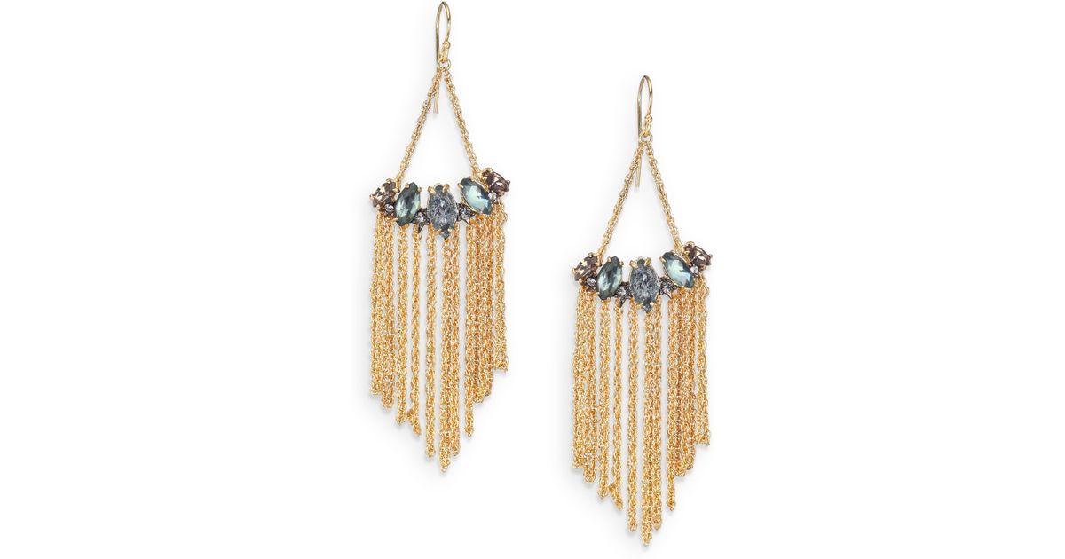 Alexis Bittar Chain Fringe Drop Earrings n70AEqrL7