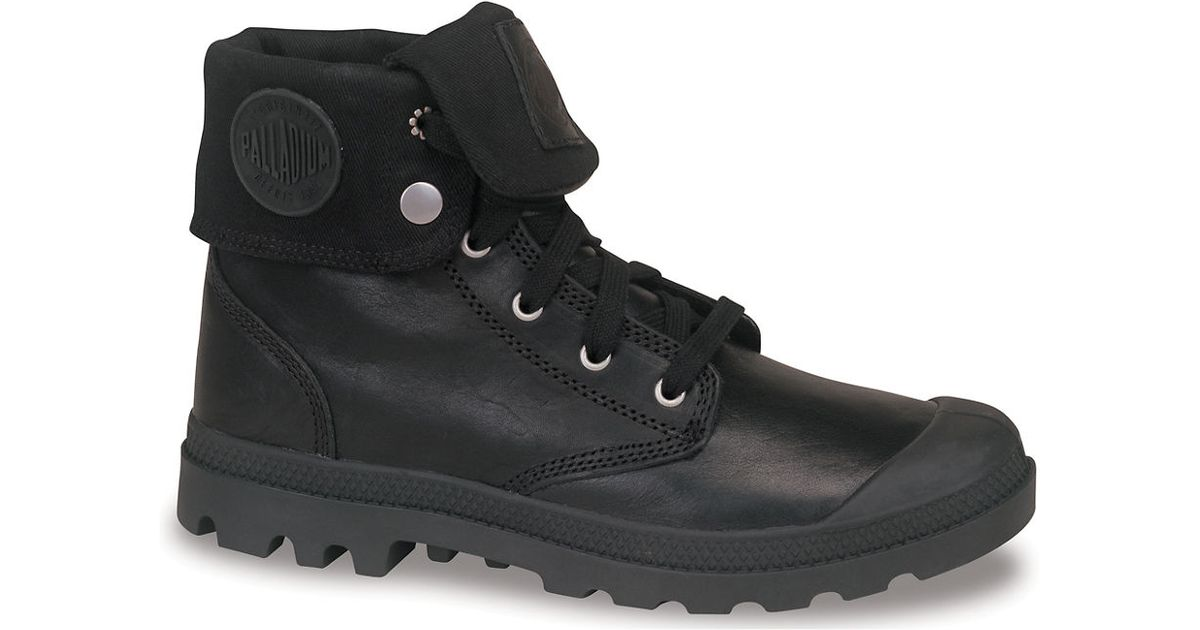 ee81b7953b7 Palladium Black Pampa Baggy Leather Ankle Boots for men