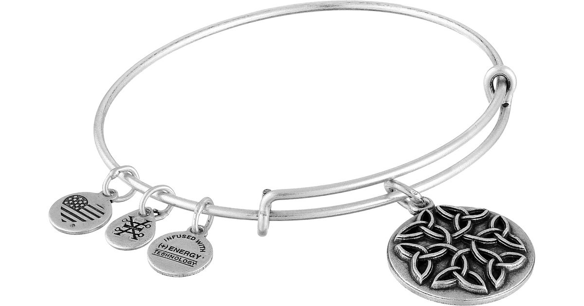 alex and ani endless knot ii bracelet in silver lyst