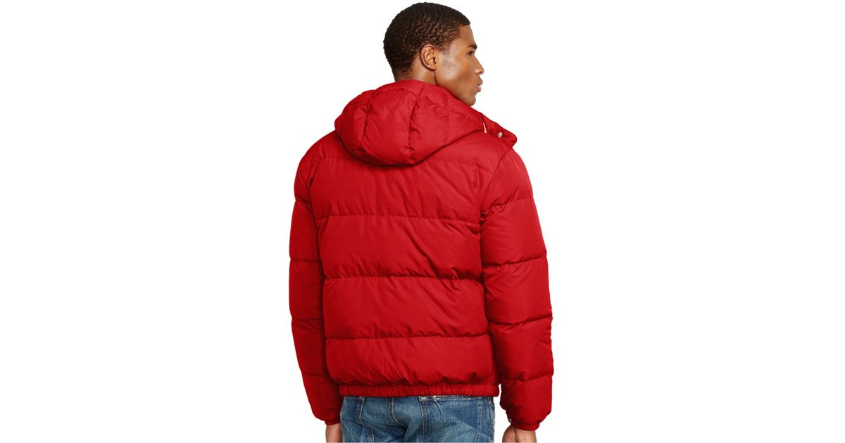 Ralph Down Jacket For Men Elmwood Polo Red Lauren DHeYEW2I9