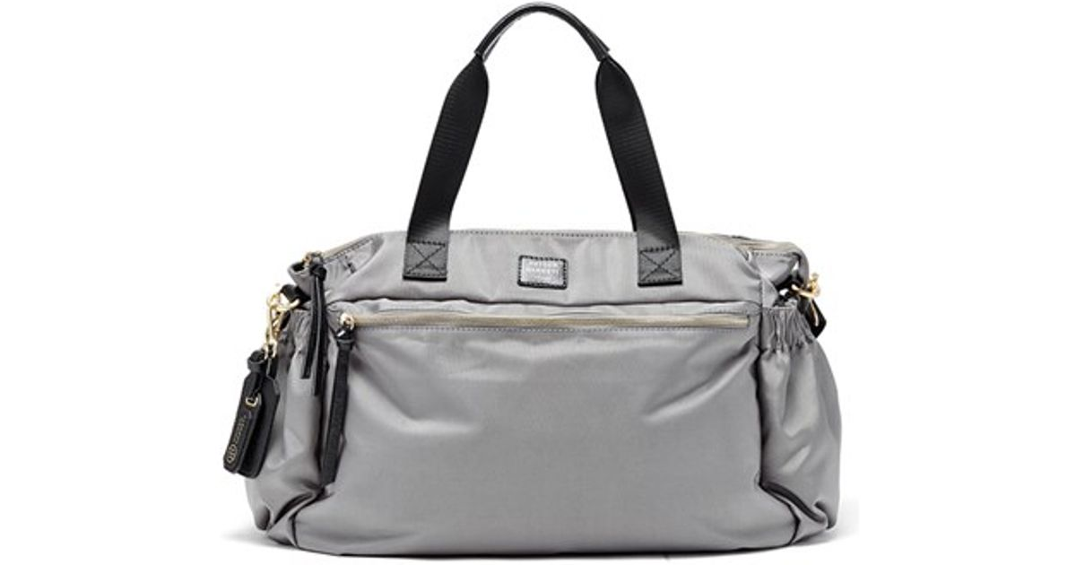 Hayden-harnett 'voyager' Water Resistant Nylon Weekend Bag in Gray ...