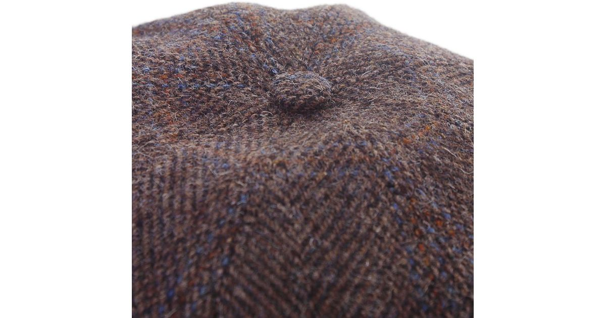 f00f3ea31e11c Lyst - Stetson Hatteras Harris Tweed Cap in Brown for Men