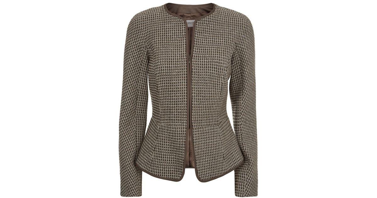 95c8d0135ca5 Armani Lurex Tweed Jacket in Gray - Lyst