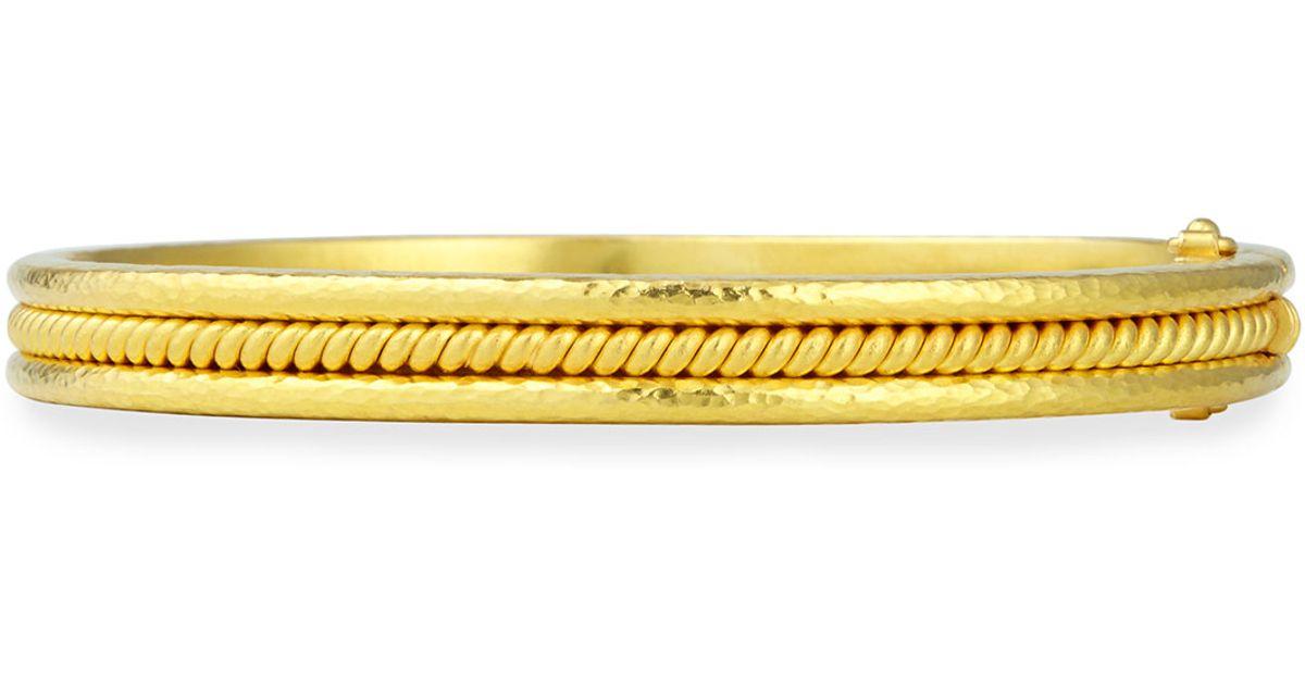 Elizabeth Locke 19k Gold Thin Braided Bangle Bracelet ueKieBlC