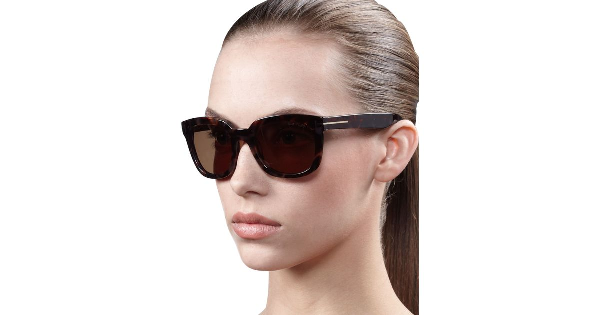 Tom Campbell Detail Ford Sunglasses Black Metal Ljq54R3A