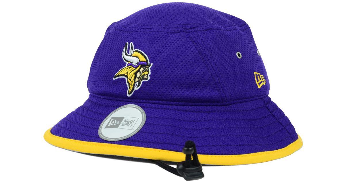 Lyst - KTZ Minnesota Vikings Tc Training Bucket Hat in Purple for Men eb62dbe2a91