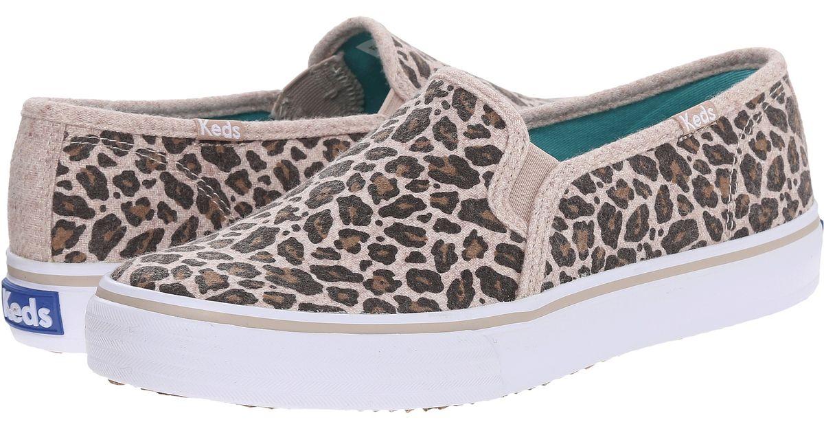 Keds Double Decker Leopard Wool - Lyst