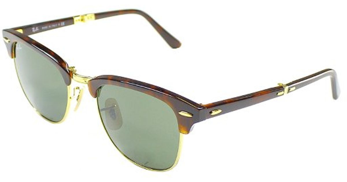 ecaa1ce0fbc Lyst - Ray-Ban Rb 2176 990 Dark Havana Clubmaster Plastic Sunglasses in  Brown