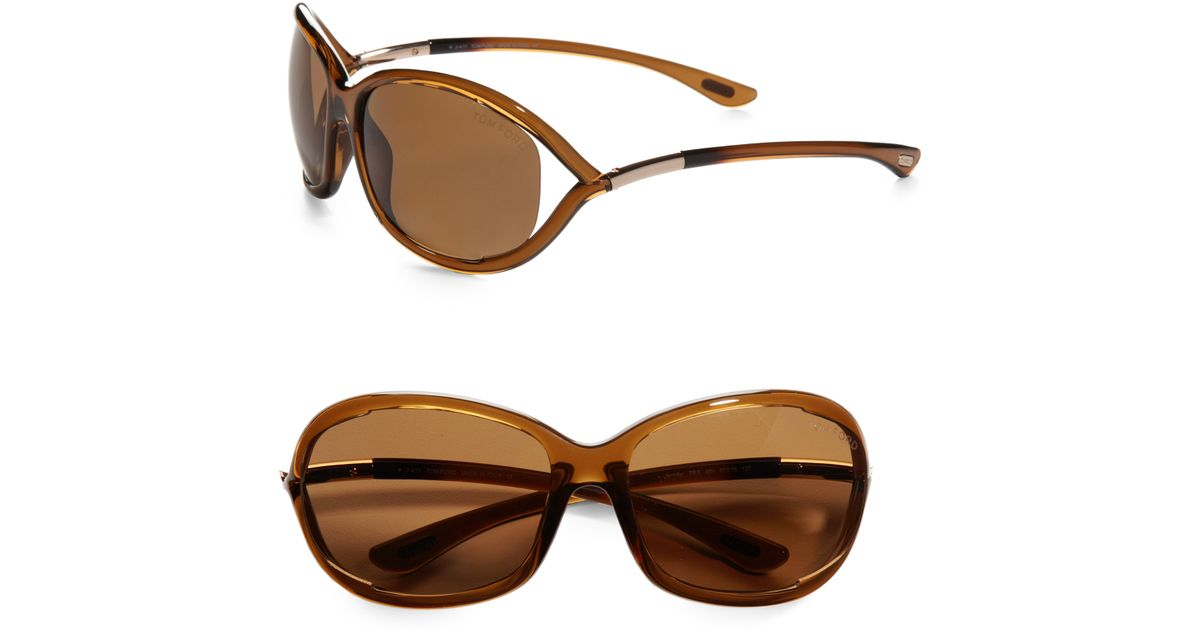 tom ford jennifer 61mm polarized oval sunglasses in brown lyst. Cars Review. Best American Auto & Cars Review