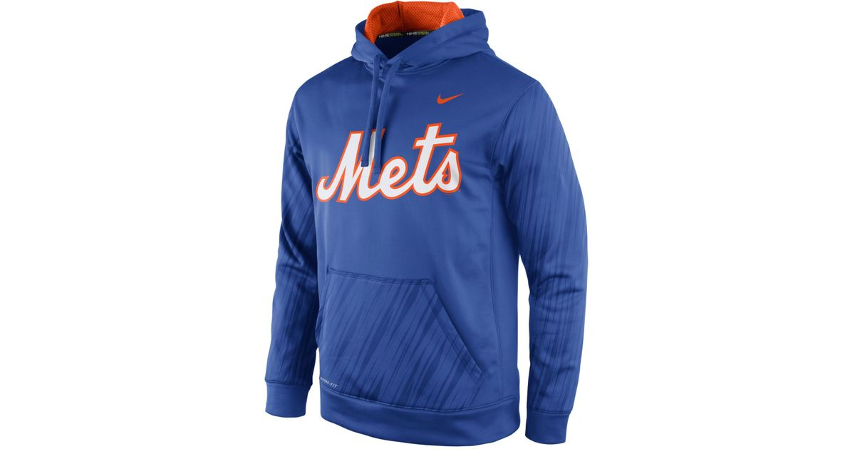 differently c15a2 5e81b Nike Blue Men's New York Mets Speed Ko Hoodie for men