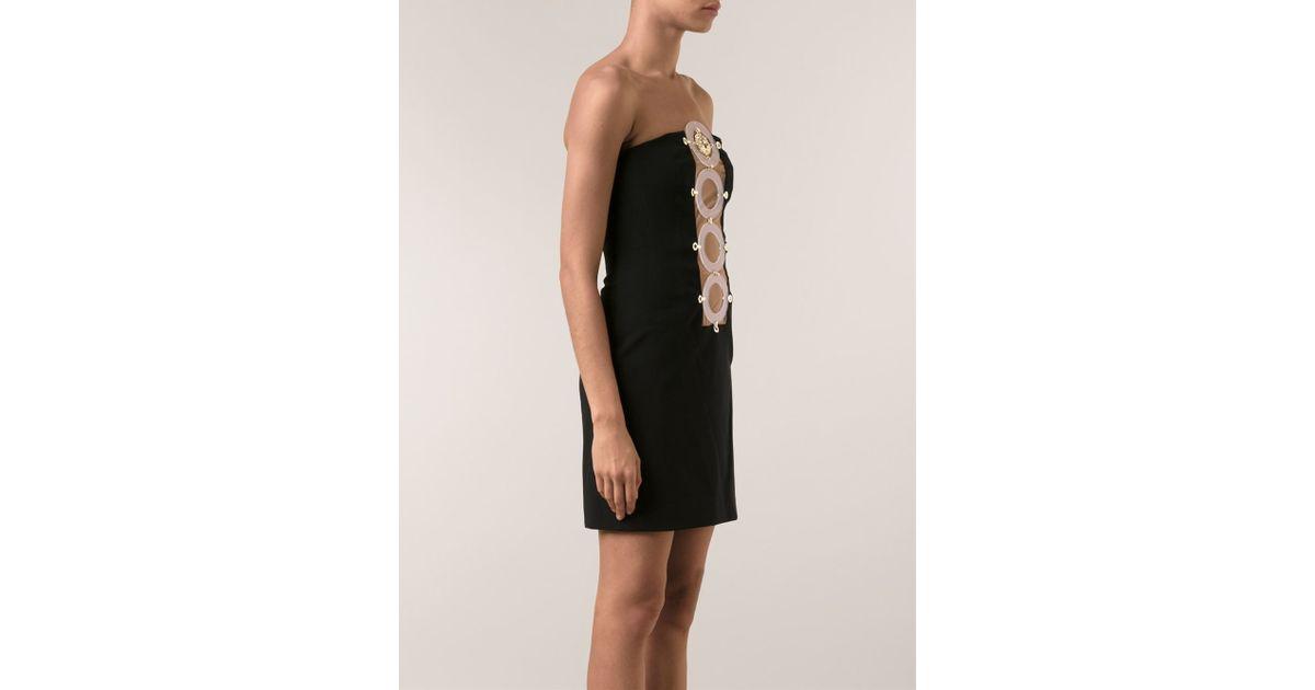 8d0e9633559 Versus Fitted Dress in Black - Lyst