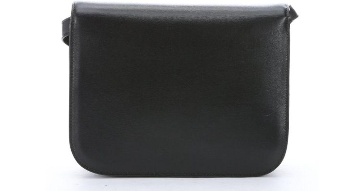 C¨¦line Black Leather Medium \u0026#39;classic Box\u0026#39; Shoulder Bag in Black   Lyst