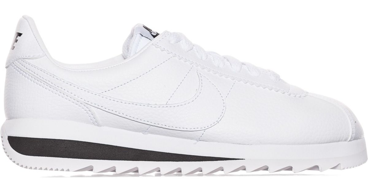new product 6bc07 71a1a ... best price lyst nike wmns classic cortez epic premium sneakers in white  91dea 34541