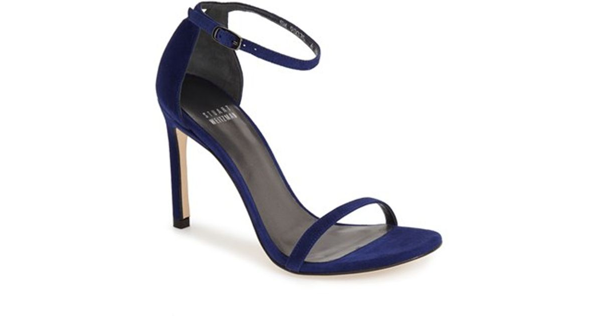 4da9946d609 Lyst - Stuart Weitzman Nudist Song Suede D Orsay Sandals in Blue