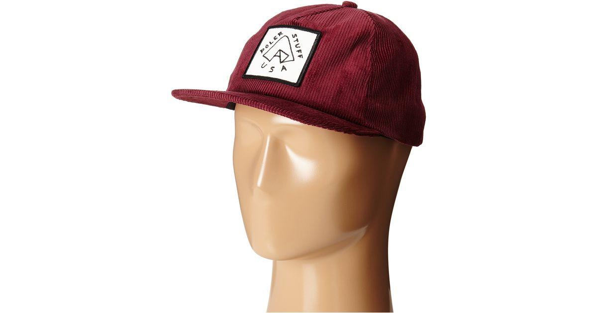 Lyst - Poler Floppy Cord Tent Hat in Purple for Men 49567c819f1