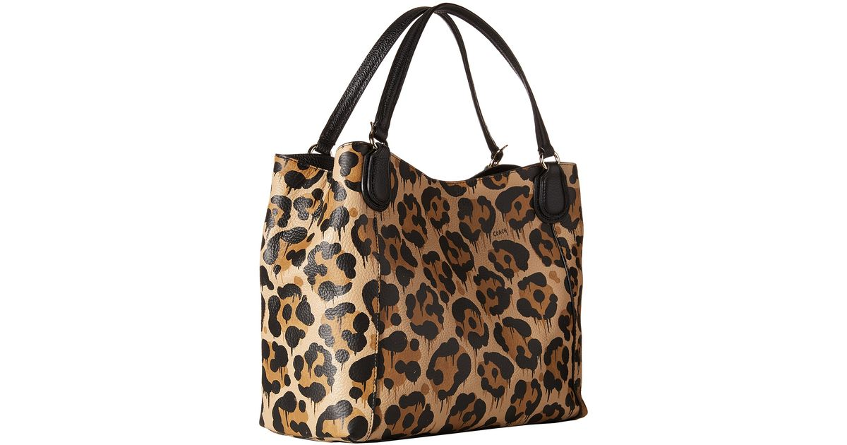 COACH Brown Leopard Ocelot Print Edie 28