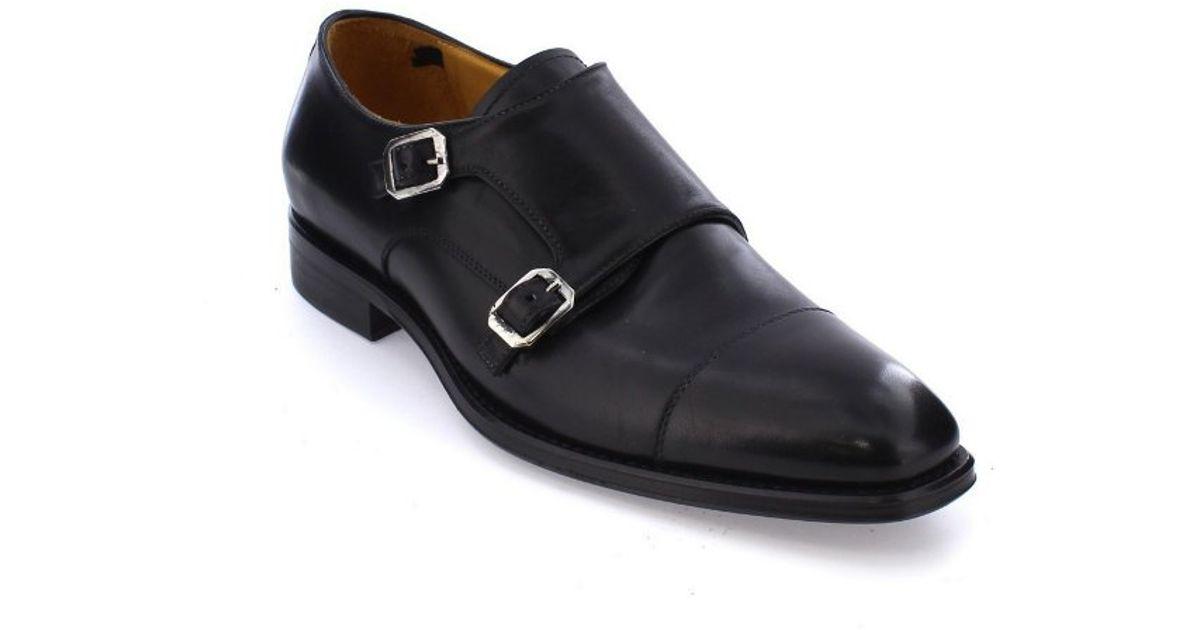a299f706d52 Lyst - Gordon Rush Copley Cap Toe Double Monkstrap in Black for Men