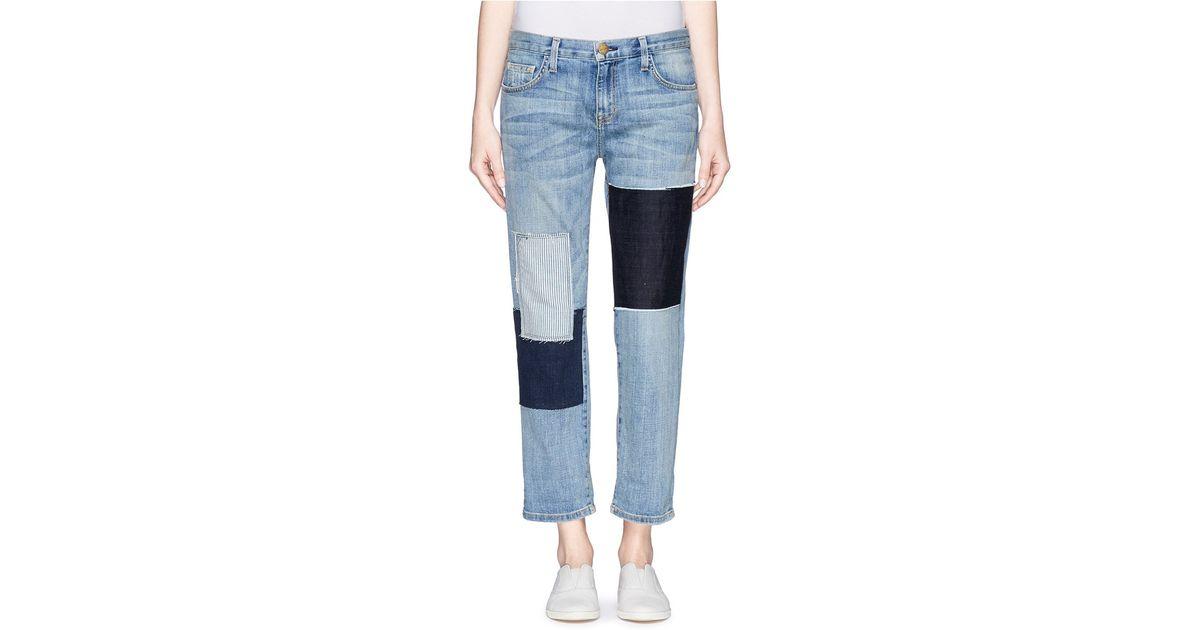 Current elliott patchwork jeans mens