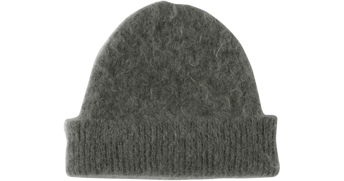 Lyst - Marni Brushed Mohair Wool Blend Beanie Hat in Green for Men d378eedf8a0