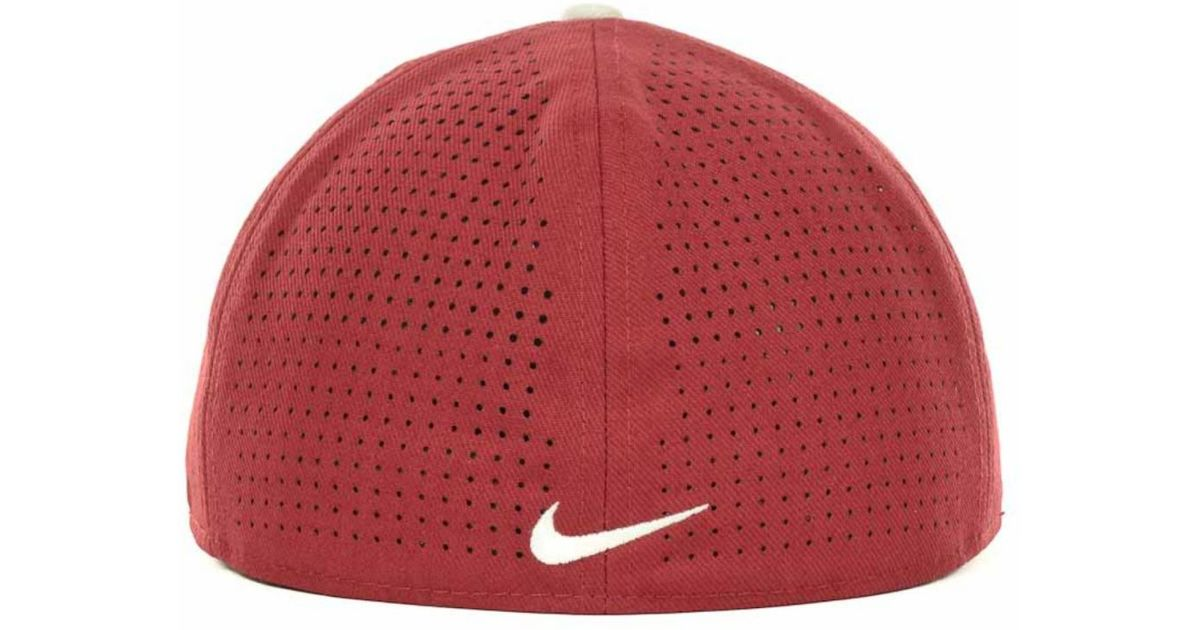 online store c8d09 874a8 Nike Oklahoma Sooners Ncaa Authentic Vapor Fitted Cap in Red for Men - Lyst