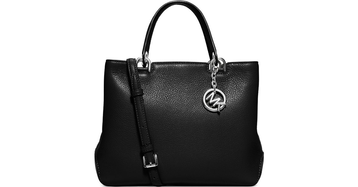002bc98310453 Lyst - MICHAEL Michael Kors Anabelle Medium Leather Tote in Black
