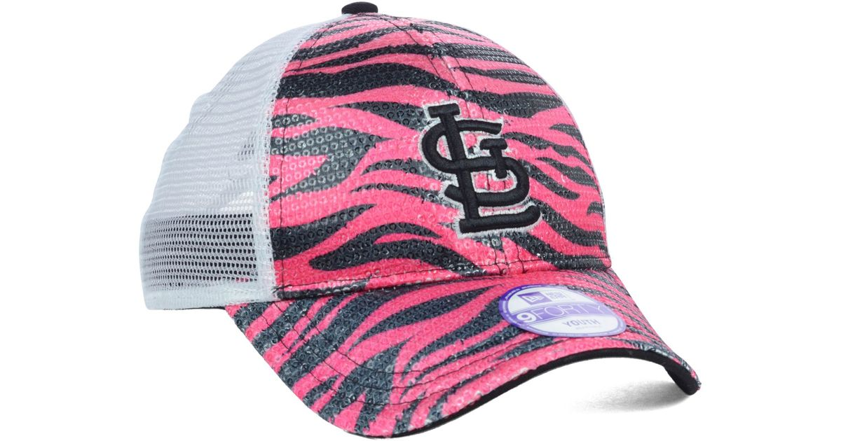 8cfe50e4 KTZ Pink St Louis Cardinals Antidazzle 9forty Kids Cap Or Toddlers Cap