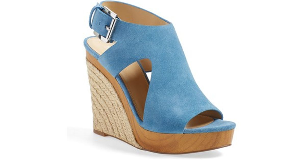 17a14f91e8c08 Lyst - MICHAEL Michael Kors  josephine  Wedge in Blue