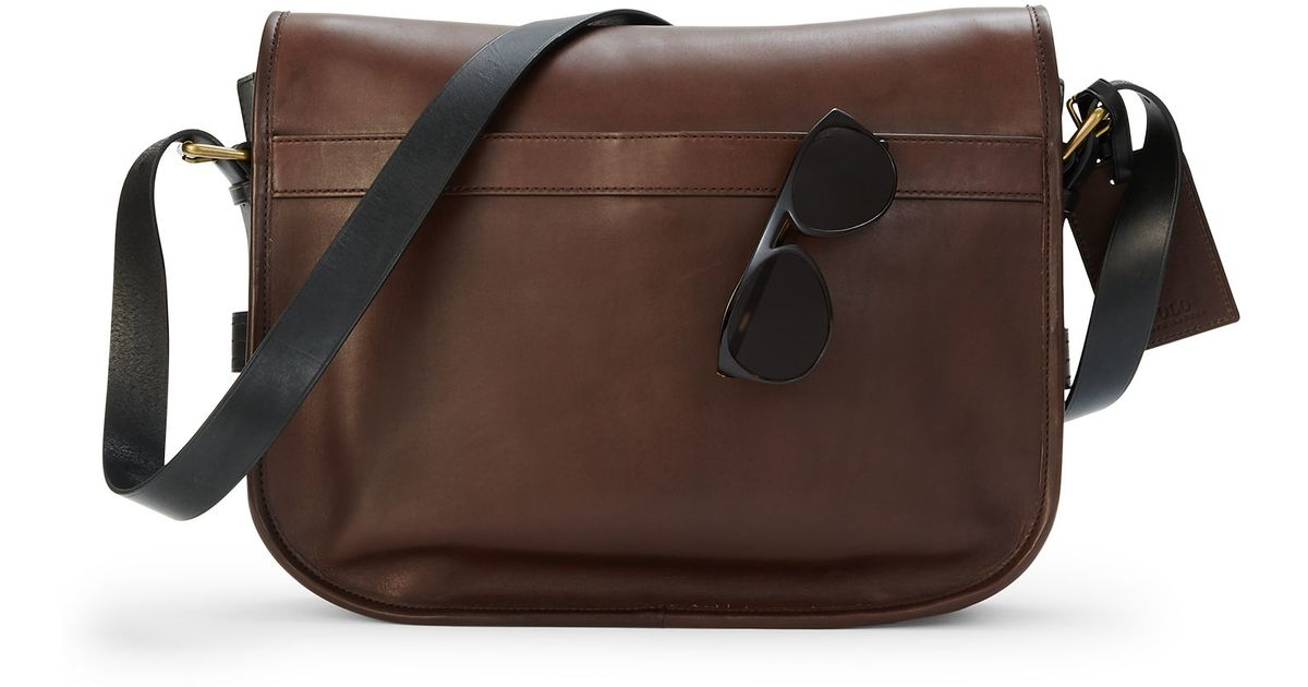 Polo Ralph Lauren Two Tone Leather Messenger Bag in Brown for Men - Lyst f8c3c3d7d769c