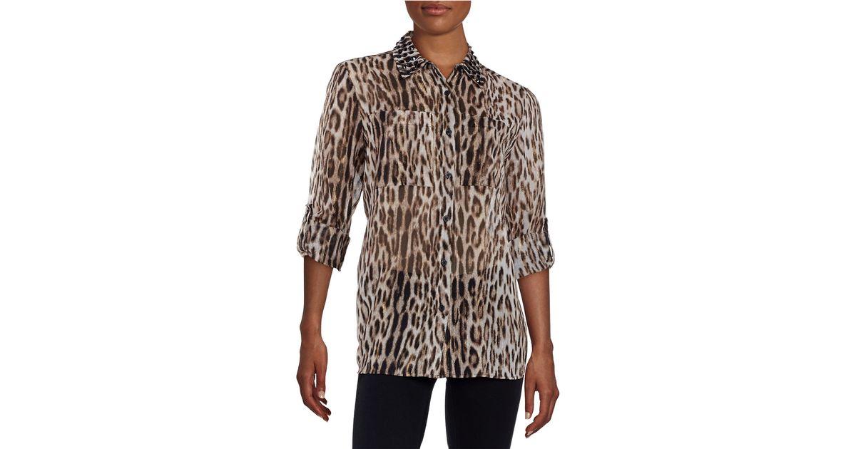 Michael kors ohrringe leopard