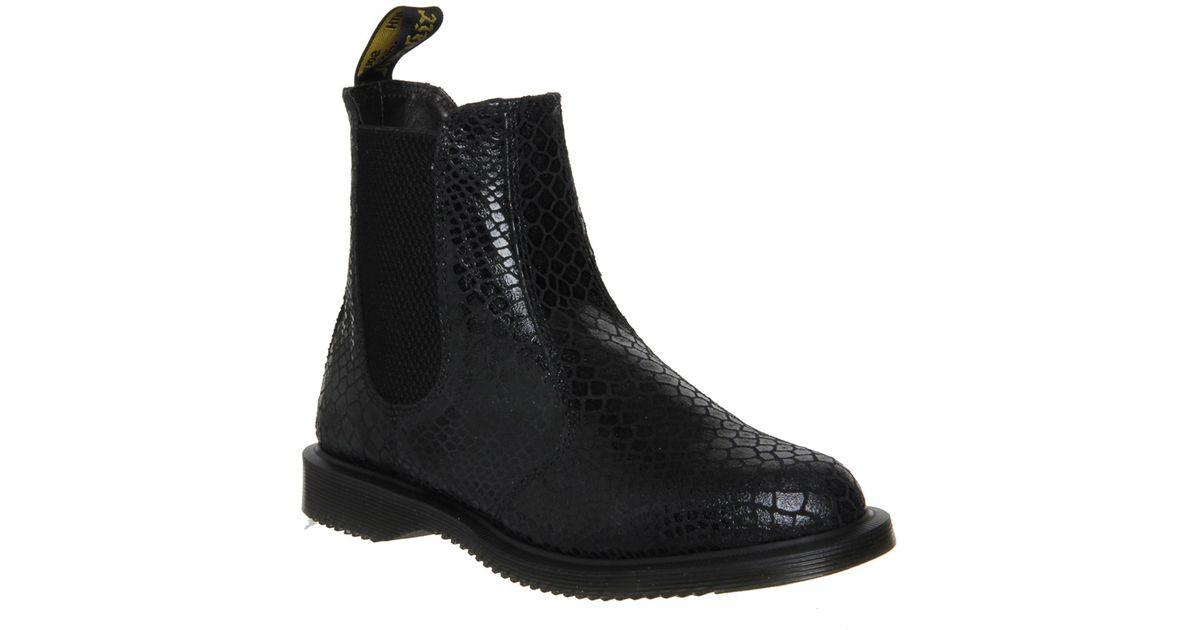 dr martens dr martens kensington flora boot in black lyst. Black Bedroom Furniture Sets. Home Design Ideas