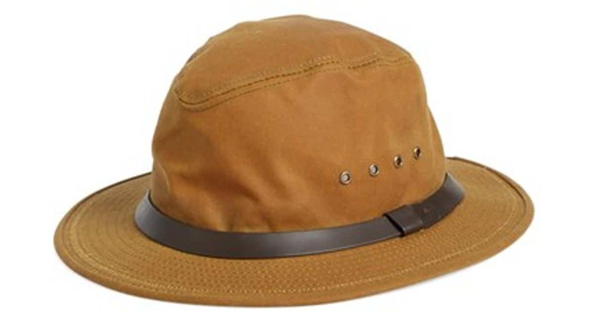 b49f01dff0e Lyst - Filson Tin Cloth Packer Hat in Brown for Men