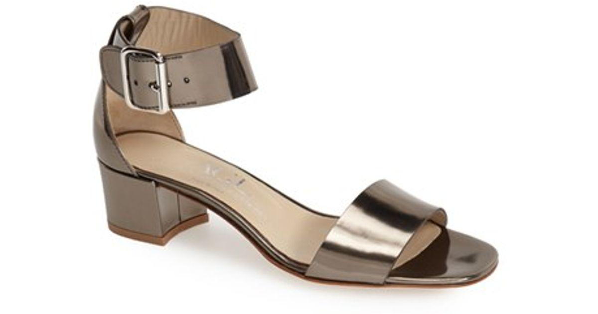 Sandal in Pewter Leather (Metallic) - Lyst