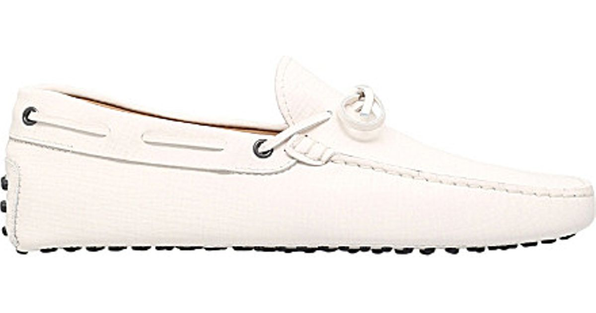 2c7154b792a Lyst - Tod s City Gommino Suede Loafers in White for Men