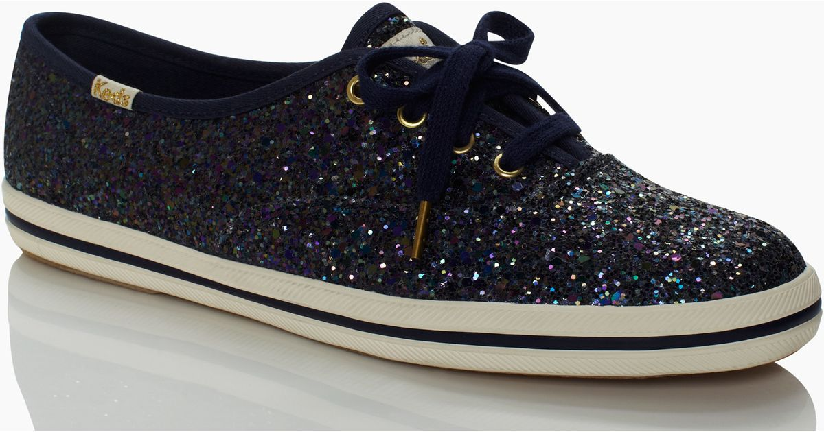 103b793d44dc Lyst - Kate Spade Keds For Glitter Sneakers in Black