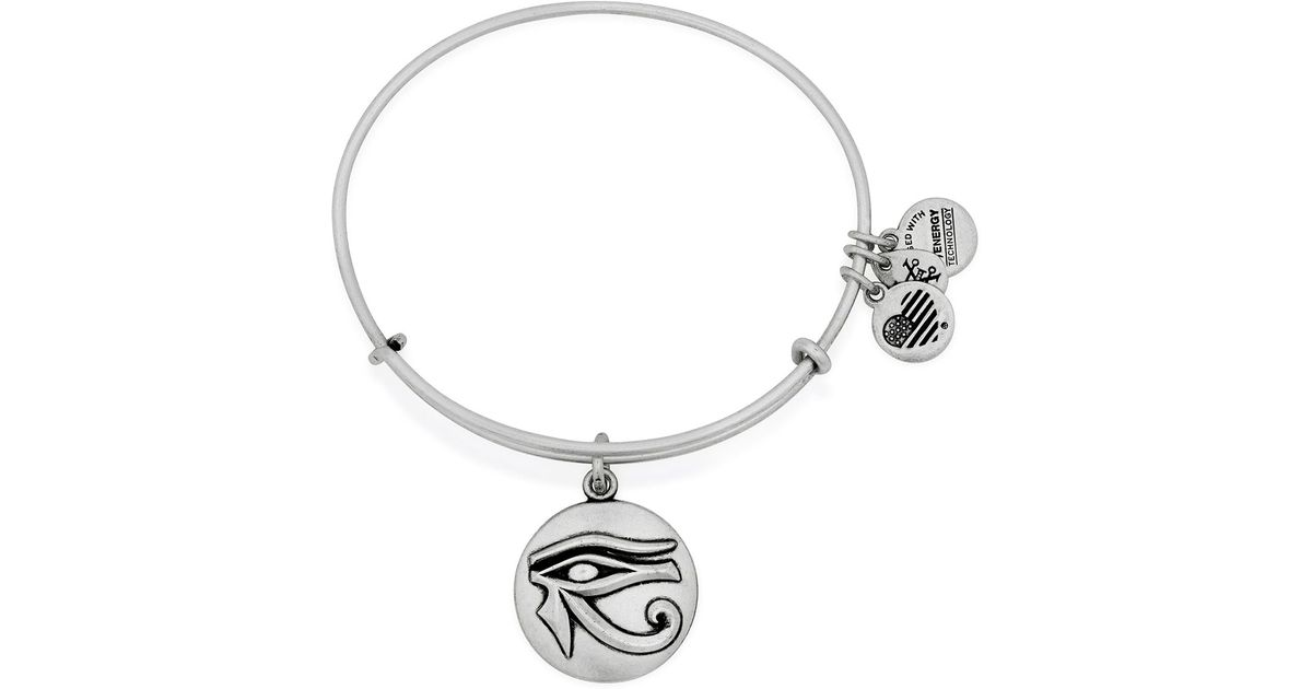 alex and ani eye of horus iii expandable wire bangle in