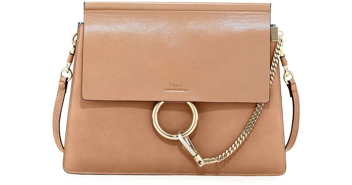 e56b841559 Chloé Brown Faye Medium Leather Shoulder Bag
