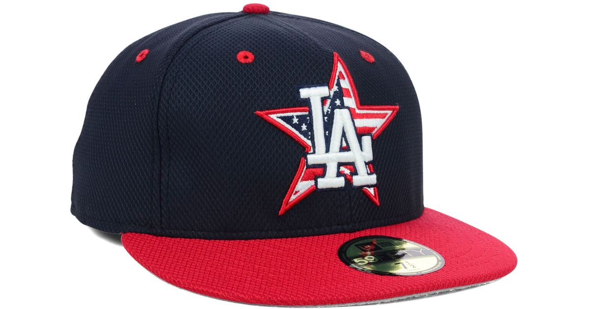 detailed pictures 16253 a6ebc Lyst - KTZ Los Angeles Dodgers July 4th Stars   Stripes 59fifty Cap in Blue  for Men
