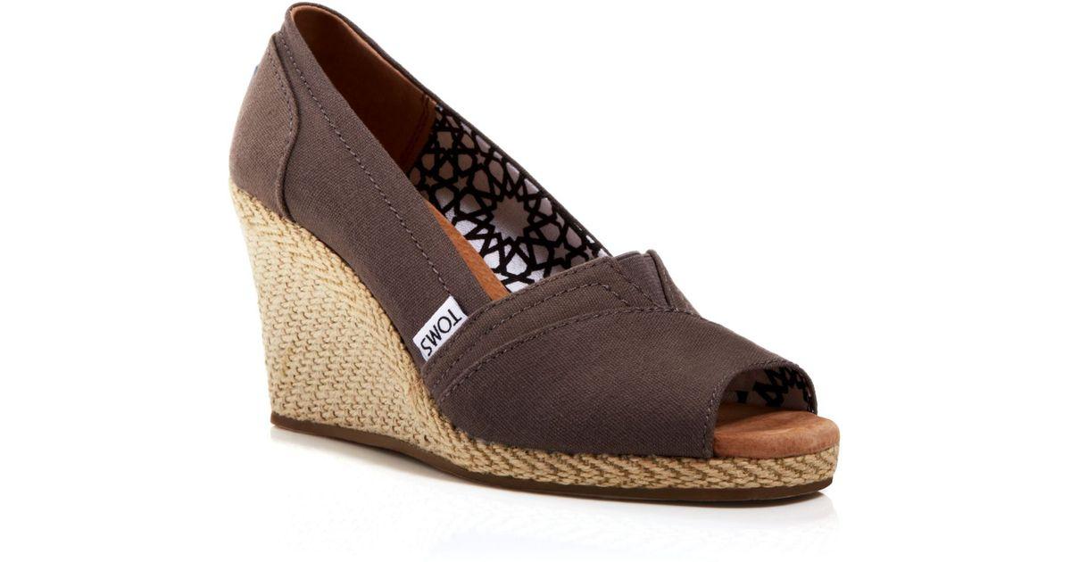 TOMS Espadrille Wedge Sandals - Classic