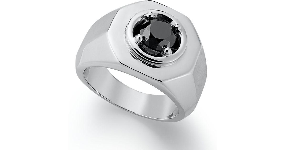 a17db736c Macy's Men's Black Diamond Ring In Sterling Silver (2 Ct. T.w.) in Black  for Men - Lyst