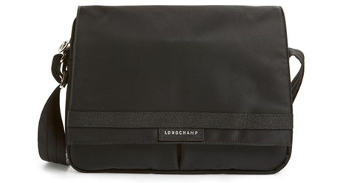 Longchamp Black 'le Pliage Neo' Messenger Bag for men