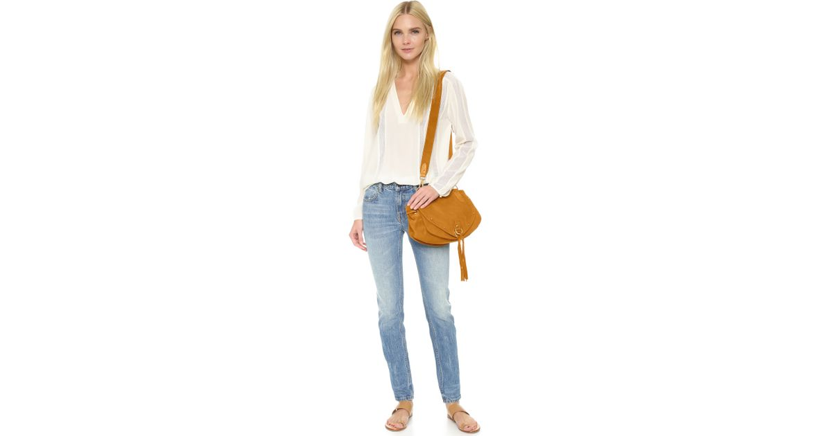 b1a18964 See By Chloé Natural Collins Leather Saddle Bag