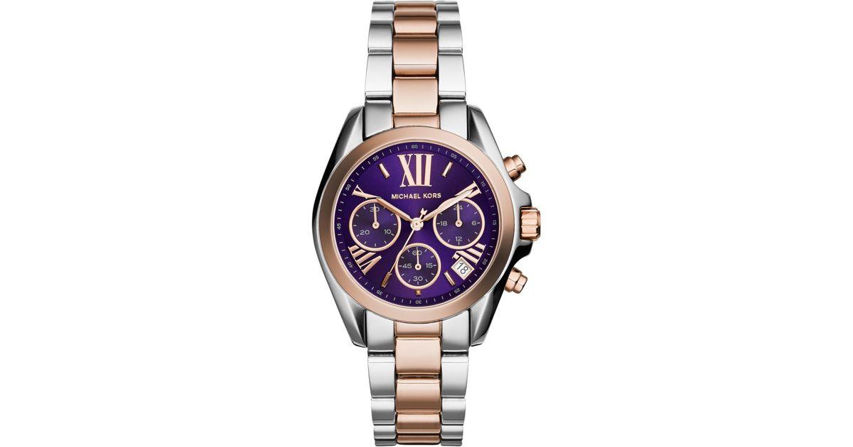 fecea8fd0e79 Michael Kors Women'S Chronograph Mini Bradshaw Two-Tone Stainless Steel  Bracelet Watch 36Mm Mk6074 in Metallic - Lyst