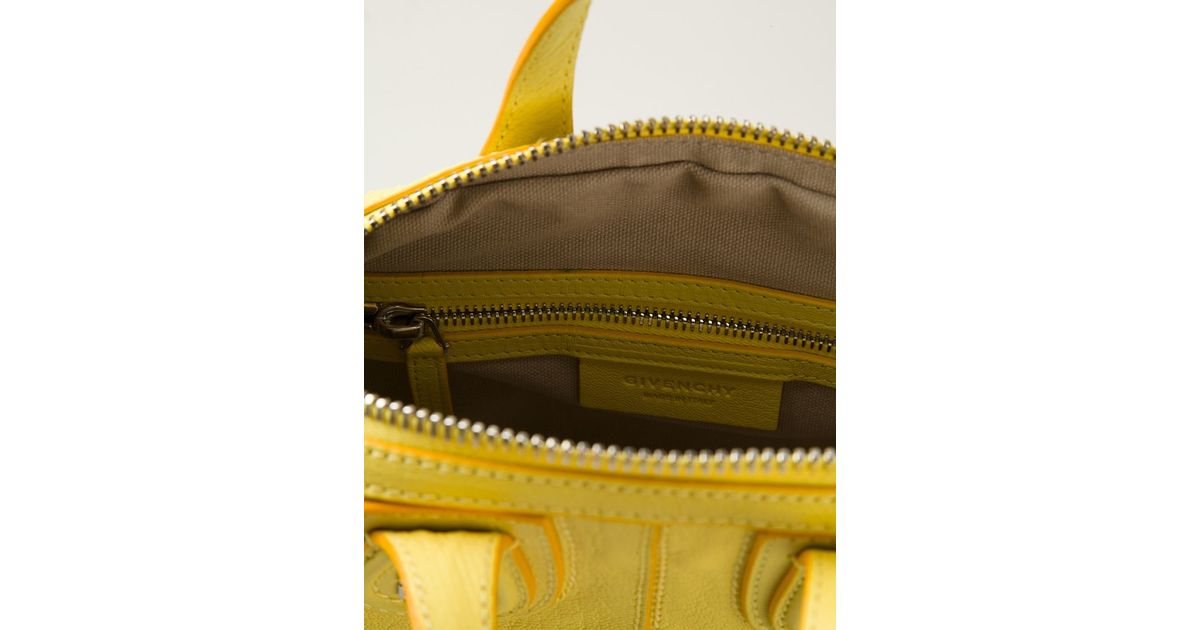 Lyst - Givenchy Nightingale Small Goatskin Shoulder Bag in Yellow 1c37d91683939